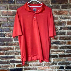 Adidas Vintage Red Clima Cool Short Sleeve Polo